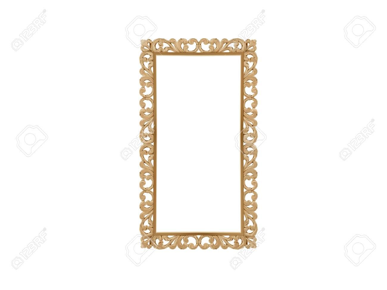 Goldenen Vintage-Rahmen. Antike Spiegel. Design Retro-Element ...