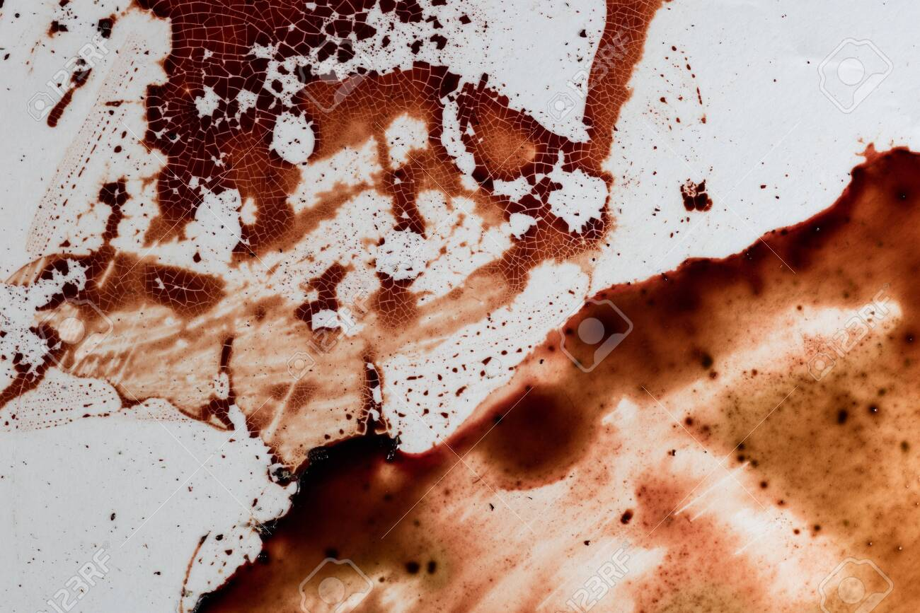 Drops of blood on a white background - 127892908