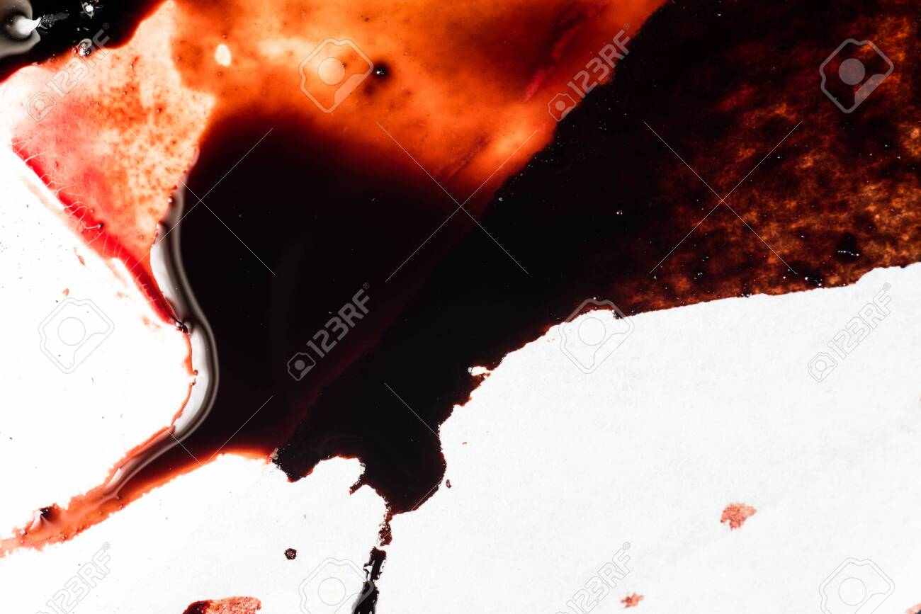 Drops of blood on a white background - 127893229