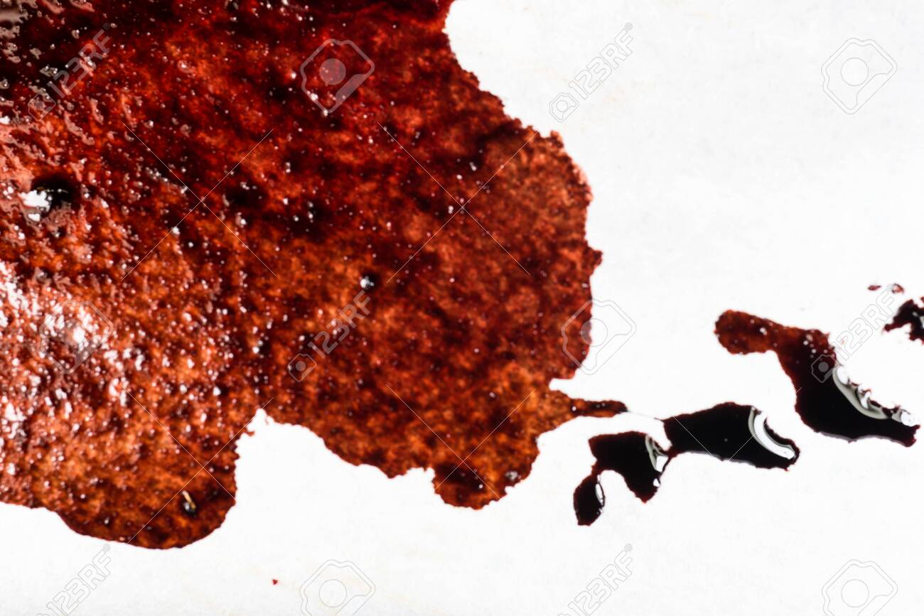 Drops of blood on a white background - 127893241