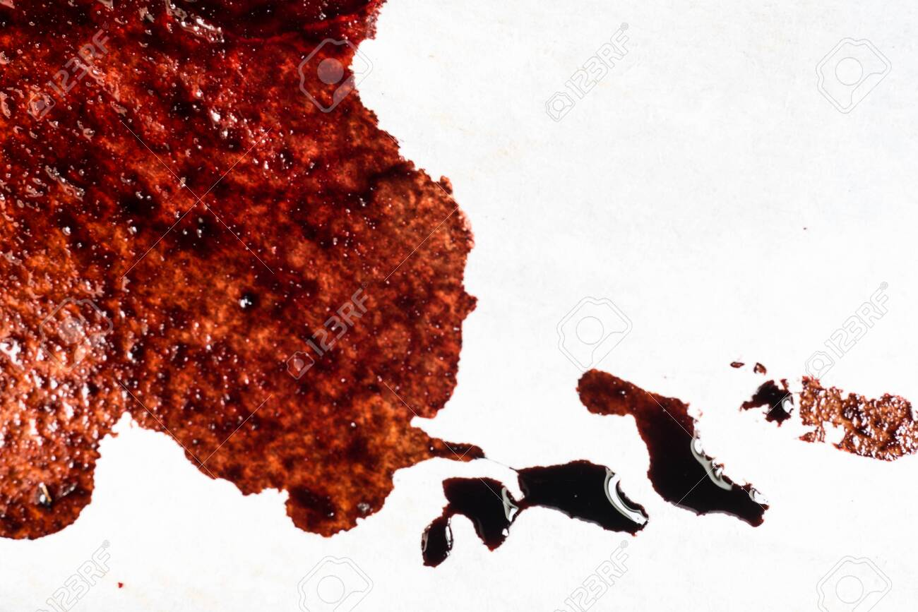 Drops of blood on a white background - 127893240