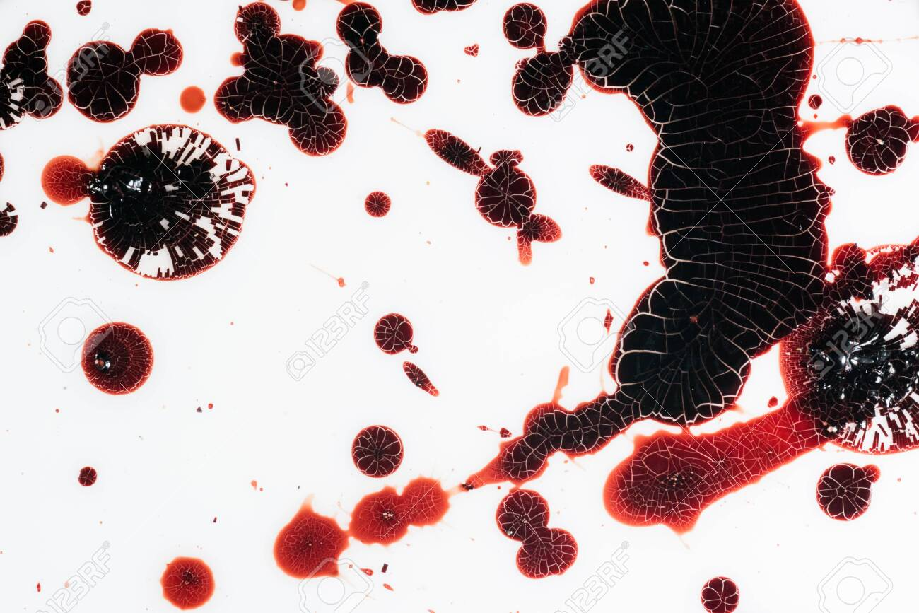 Drops of blood on a white background - 127893431
