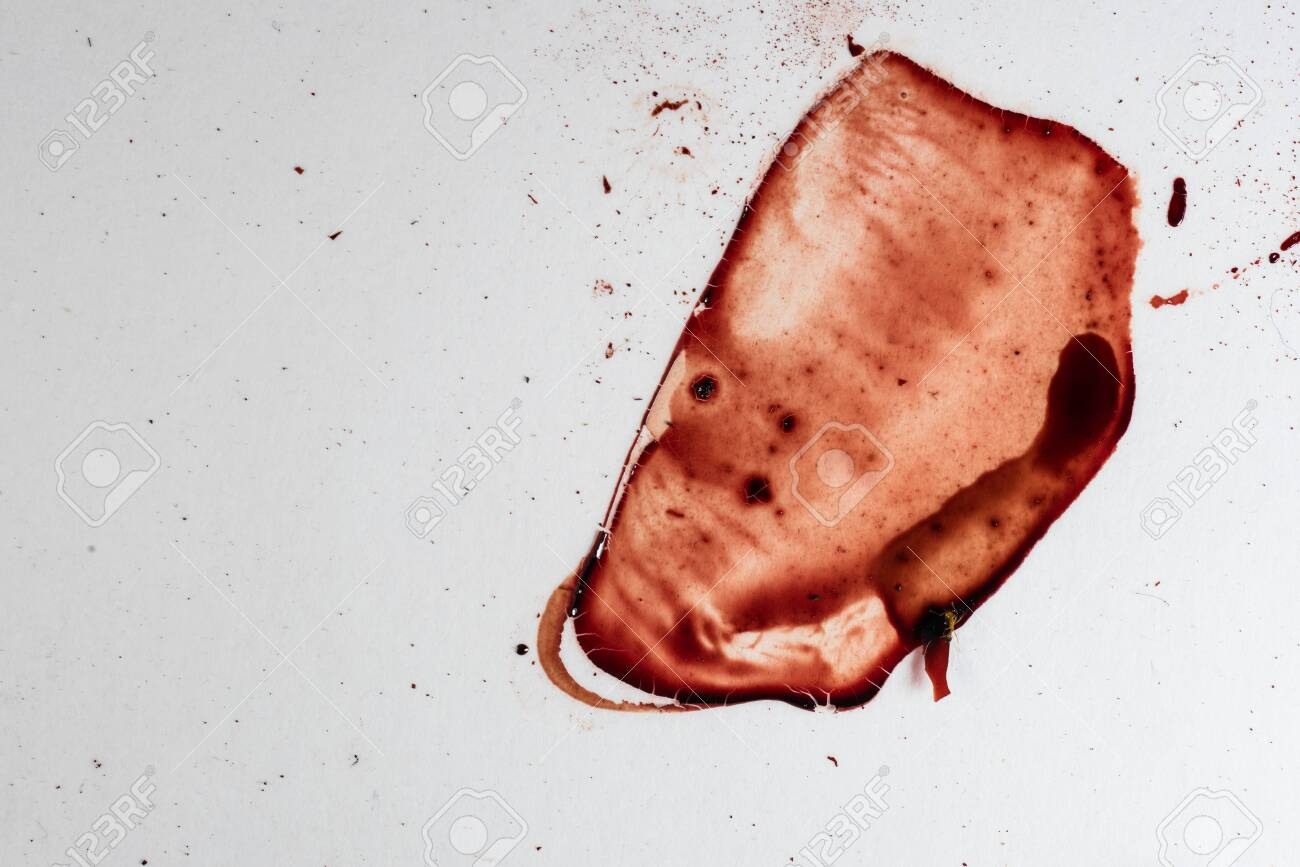 Drops of blood on a white background - 127893439