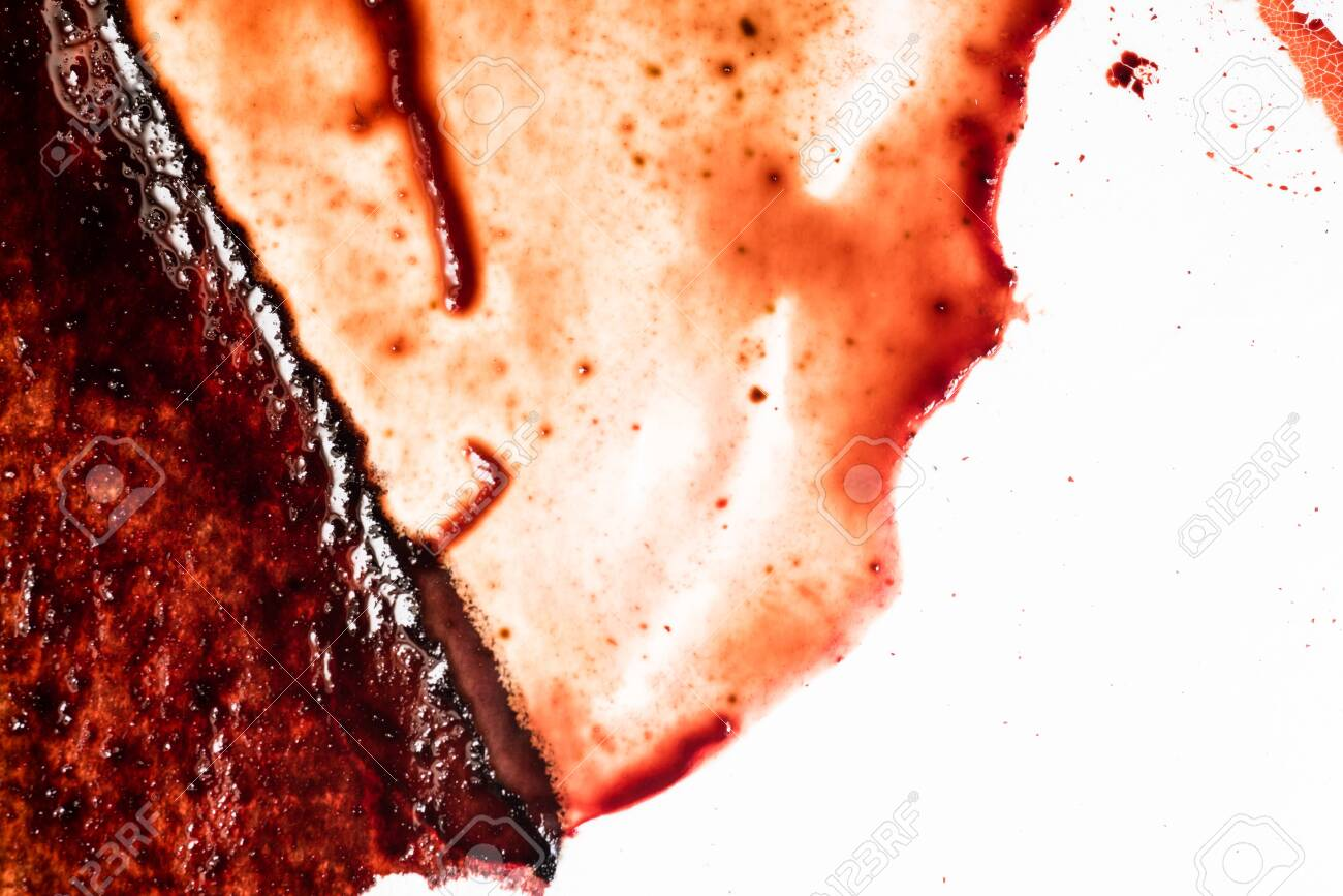 Drops of blood on a white background - 127893510