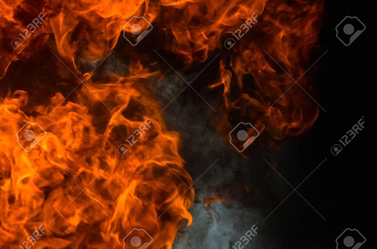 A big flame,fire plan rehearsal - 127893753
