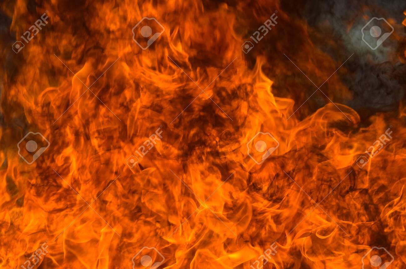 A big flame,fire plan rehearsal - 127893755