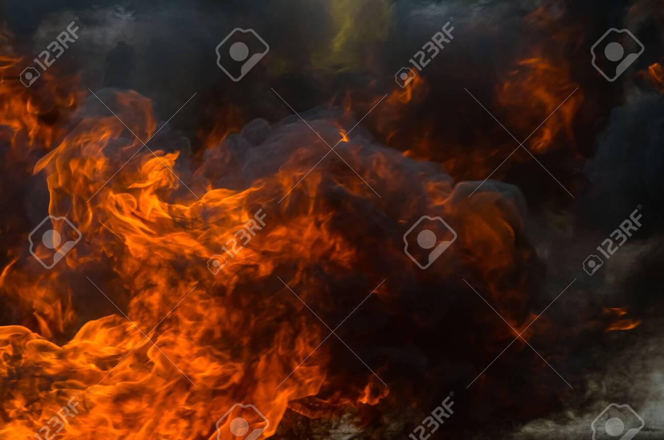 A big flame,fire plan rehearsal - 127893763