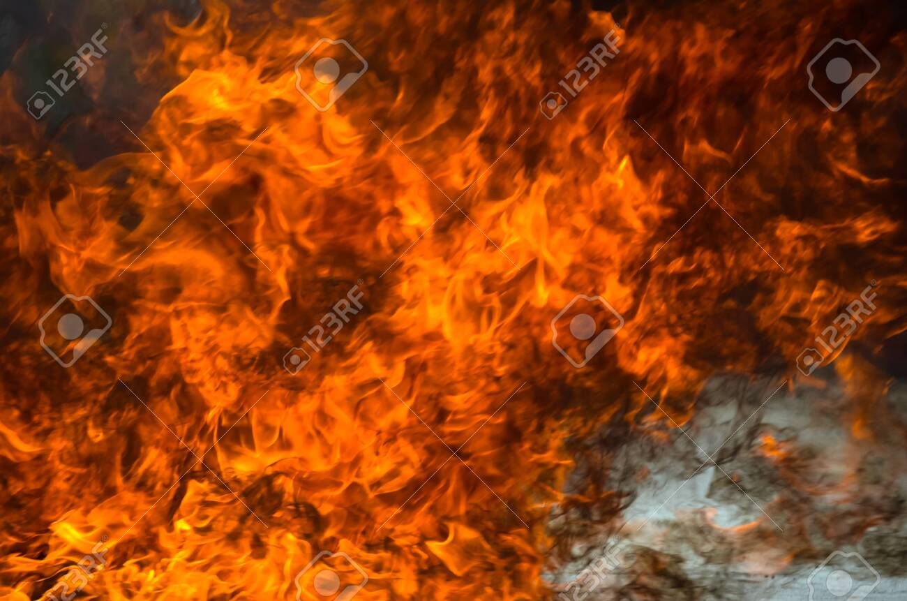 A big flame,fire plan rehearsal - 127893762