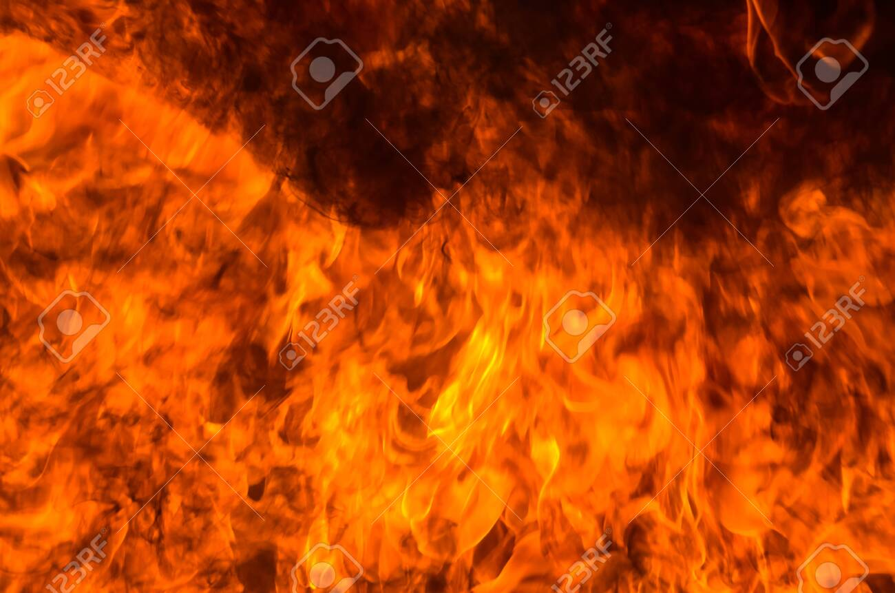 A big flame,fire plan rehearsal - 127893759