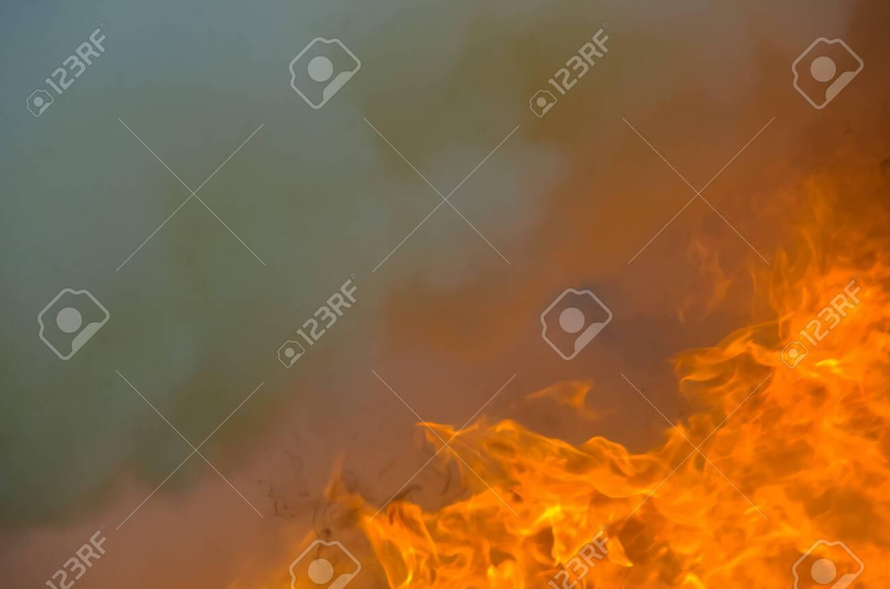 A big flame,fire plan rehearsal - 127893774