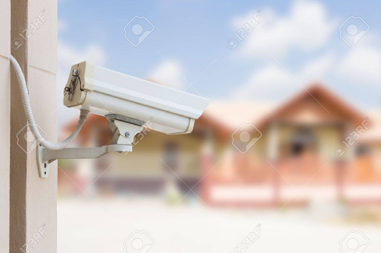 Protect Your Property With CCTV Camera Stock Photo - 19266773
