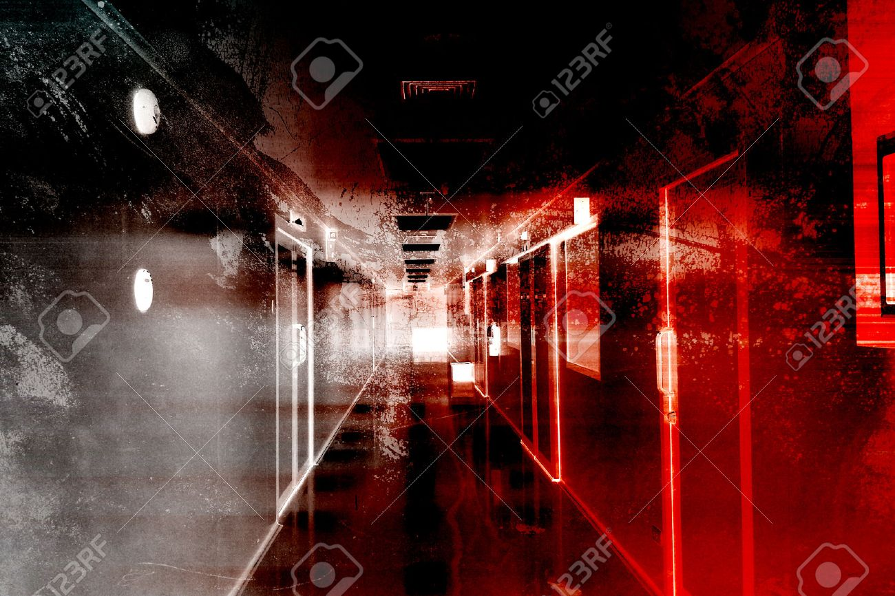 Hospital Of Horror,Scary Background For Book Cover And Movies Poster Project - 42721681