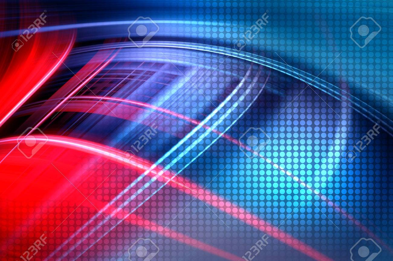 Abstract Colorful Technology Background,Futuristic Red And Blue Waves Background - 42721683
