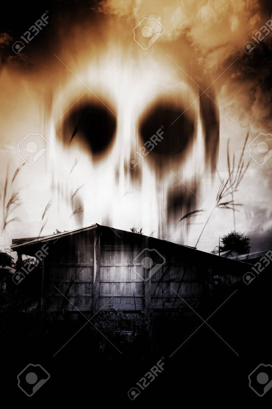 Haunted House,Horror Background For Halloween Concept or Book