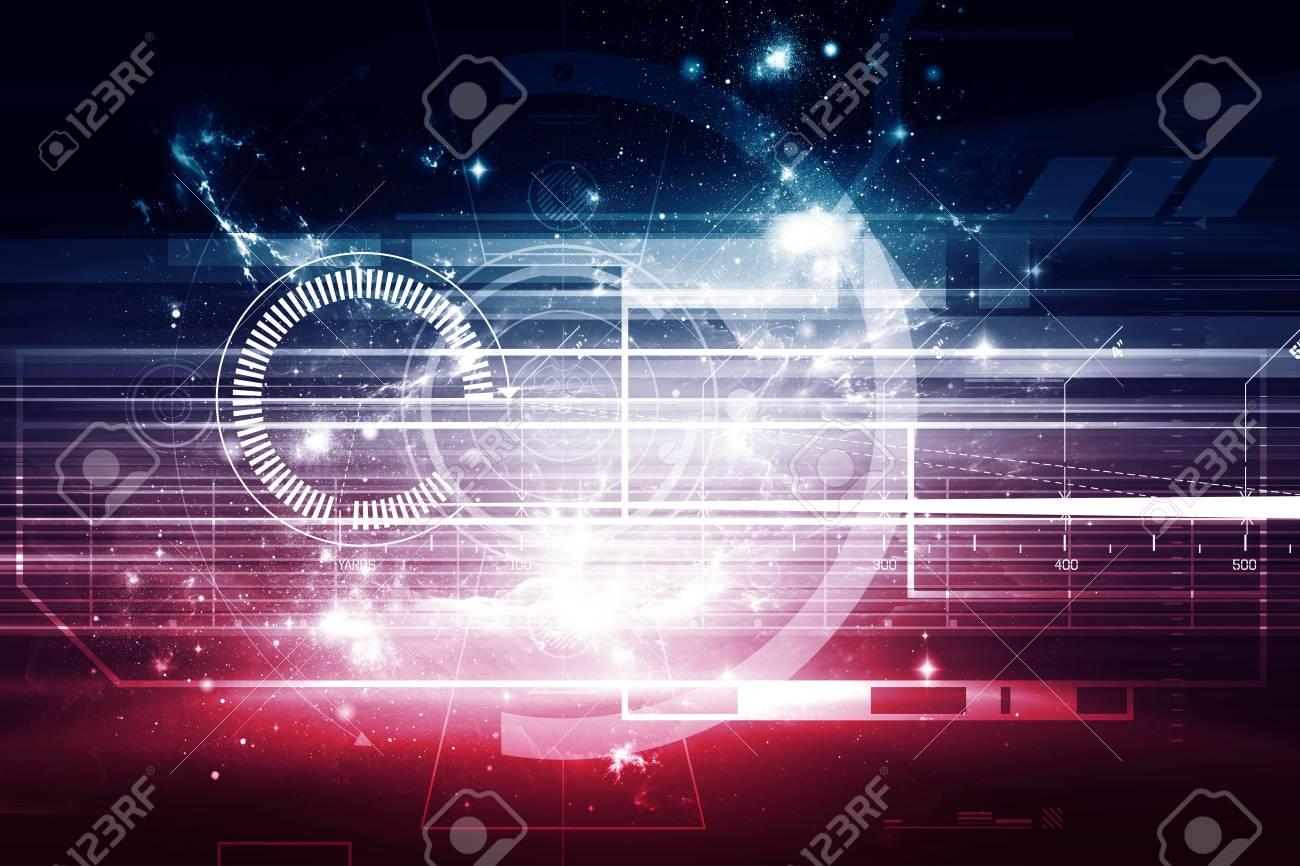 抽象的な未来の背景 デスクトップの壁紙の背景 技術の抽象的な背景を