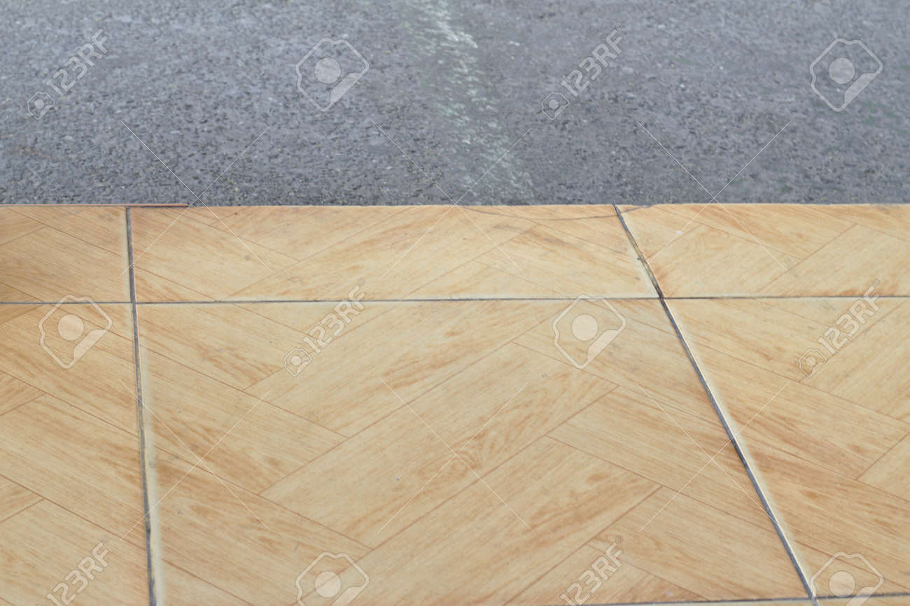 Brown Glazed Tile Floor Diagonal Surface Pattern Asphalt Pavement