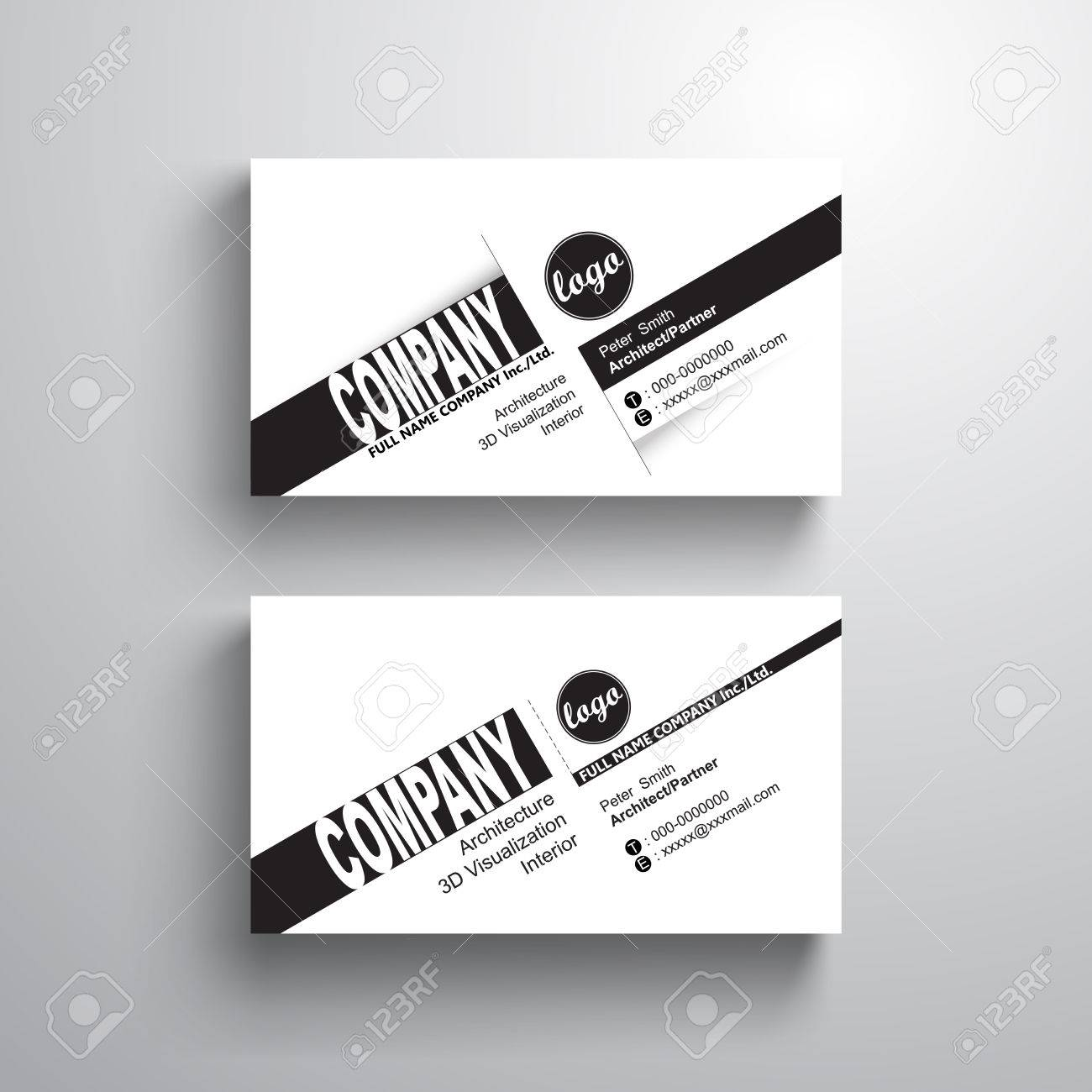 Black white design typography name card template business card black white design typography name card template business card minimalist style stock vector wajeb Choice Image