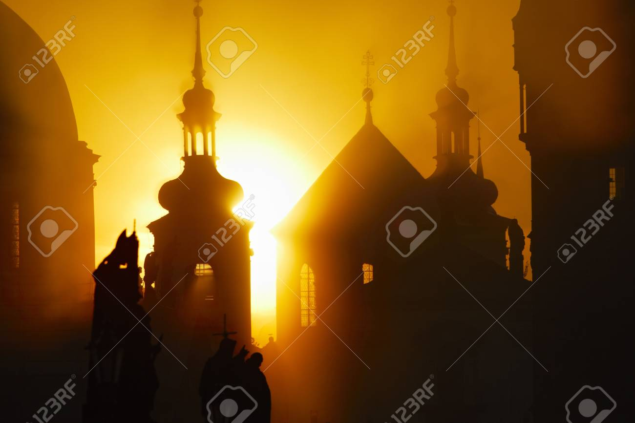 Autumn morning - Prague, Czech Republic Stock Photo - 17169989
