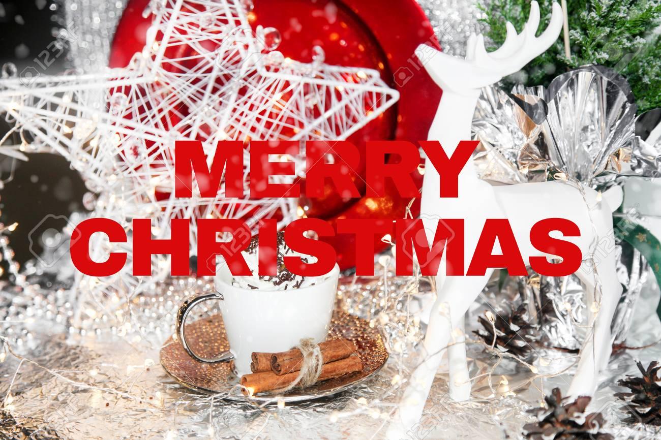 England Christmas Snow.Christmas Card Merry Christmas English England Table Snow