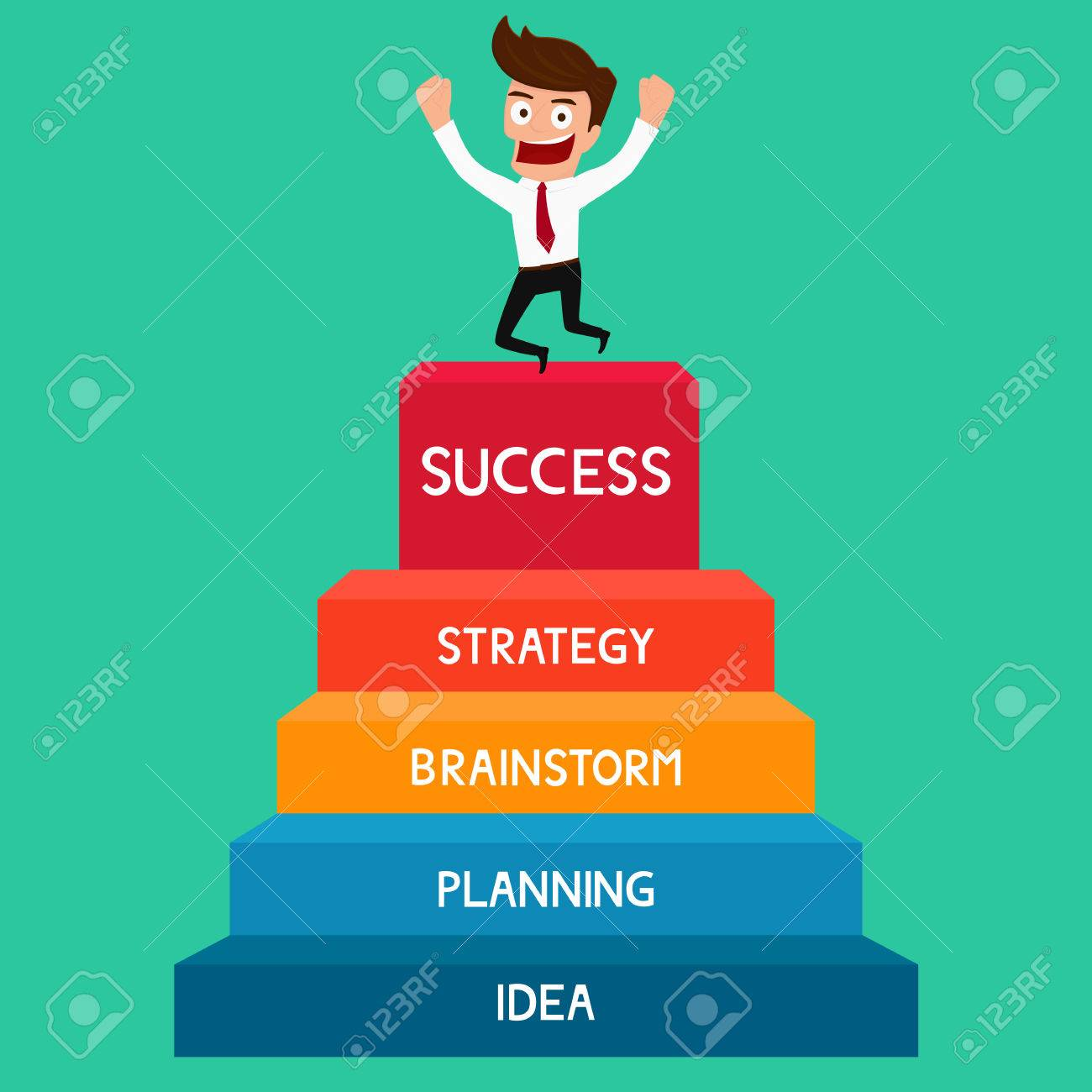businessman going up to success staircase to success cartoon royalty free cliparts vectors and stock illustration image 40176115 123rf com