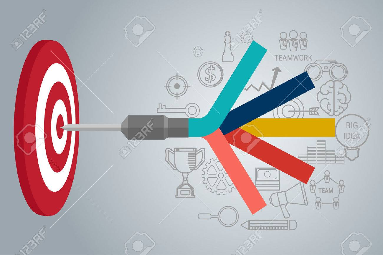 Business Target concept infographic. Goal setting. Smart goal. Can be used for workflow layout, banner, diagram, web design. Vector Illustration. - 52090588
