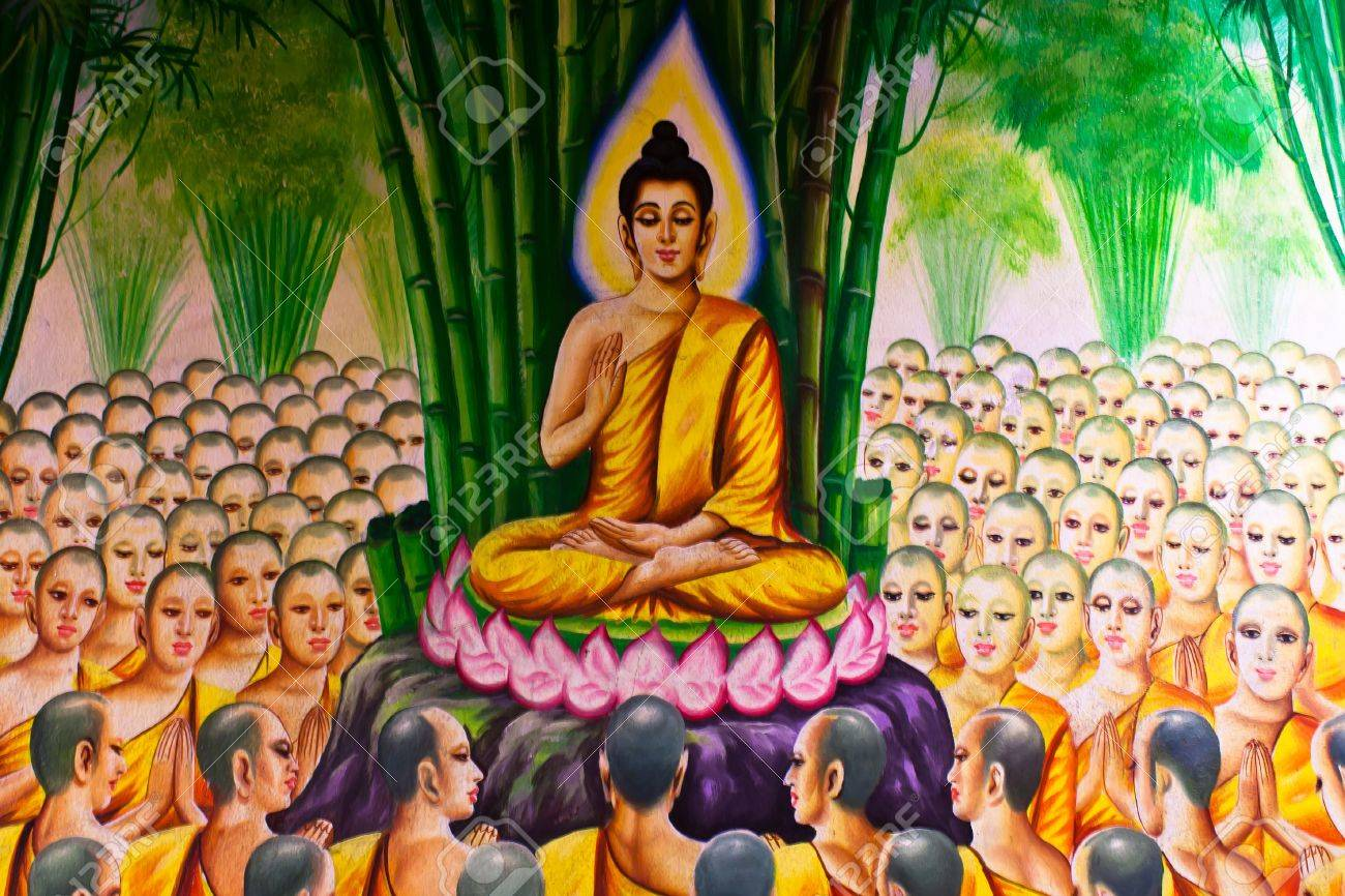 Mural Buddhist ReligionTemple In Thailand Stock Photo Picture - Thailand religion