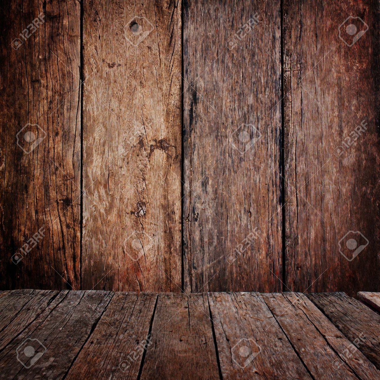 Perspective wood floor and wood panel background Stock Photo - 16683680 - Perspective Wood Floor And Wood Panel Background Stock Photo
