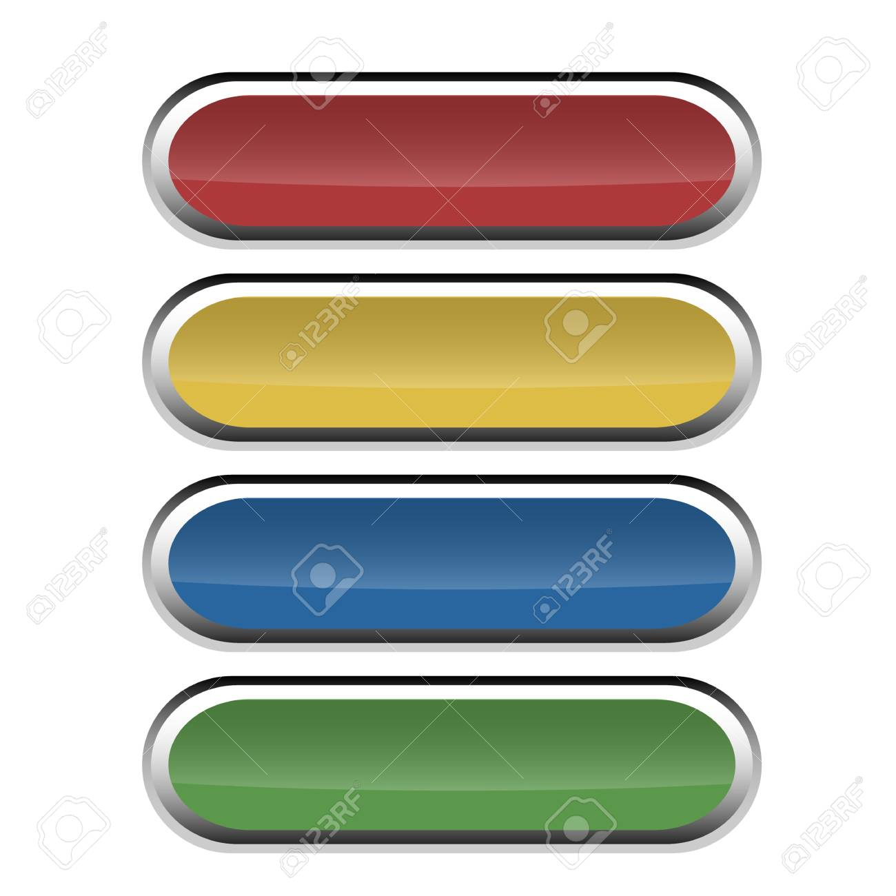 Set of round buttons with glossy effect for web using Stock Vector - 16841642