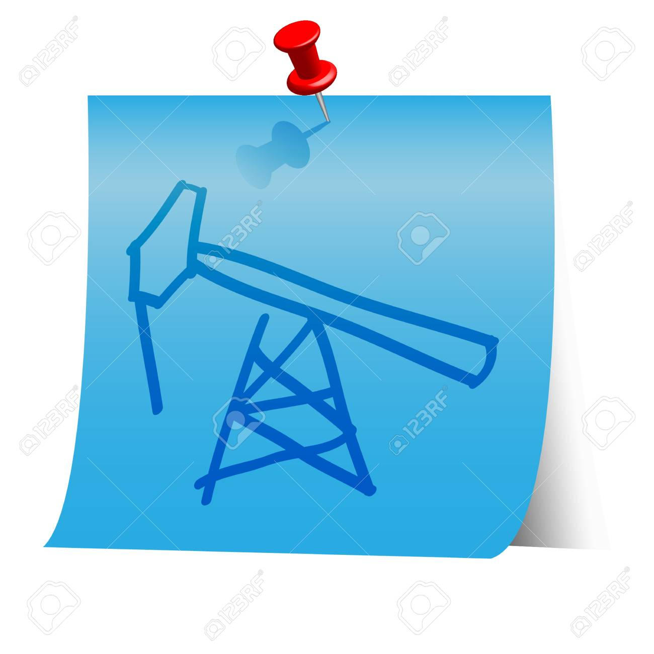 Energy resource icon on blue paper note. Stock Vector - 18139965