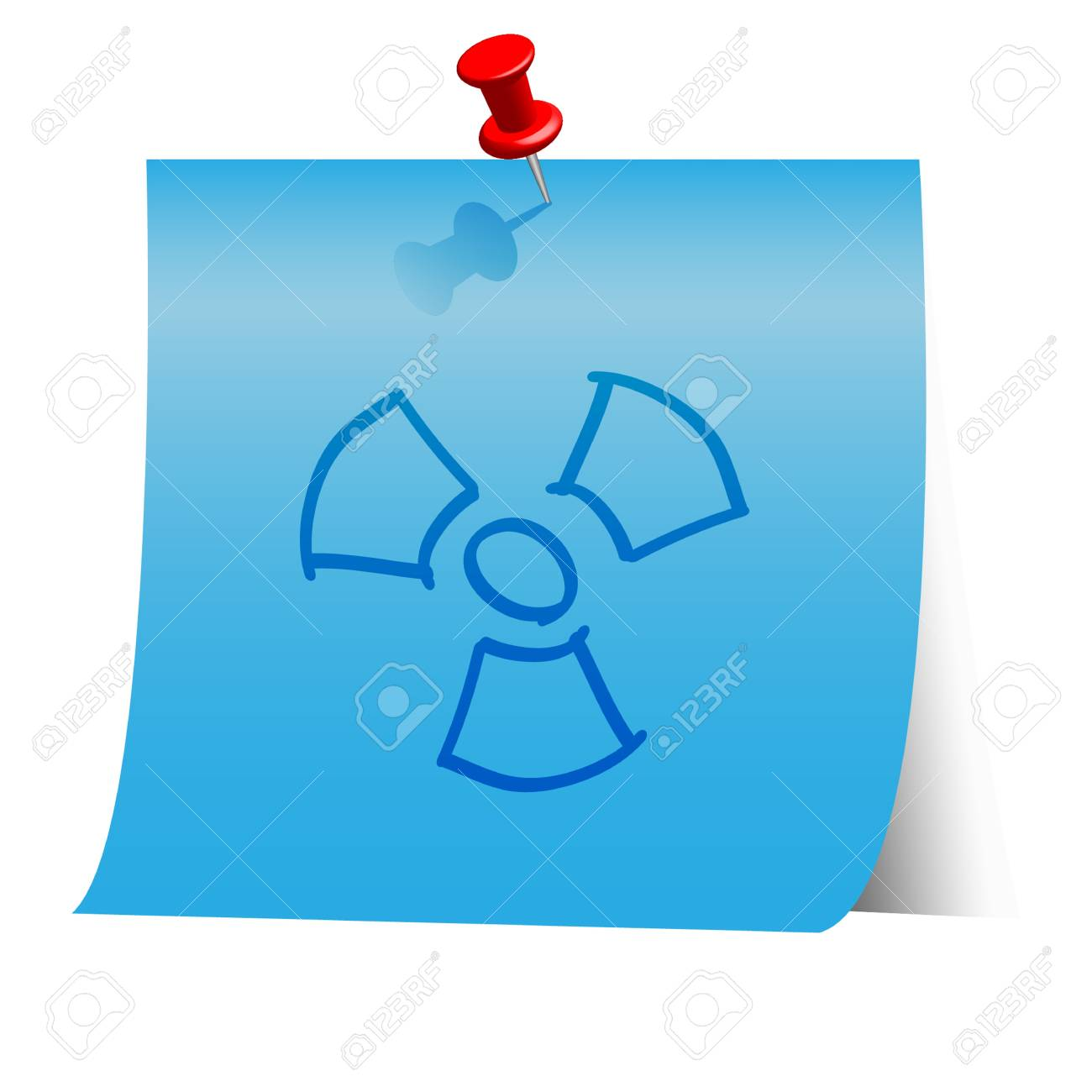 Energy resource icon on blue paper note. Stock Vector - 18139961