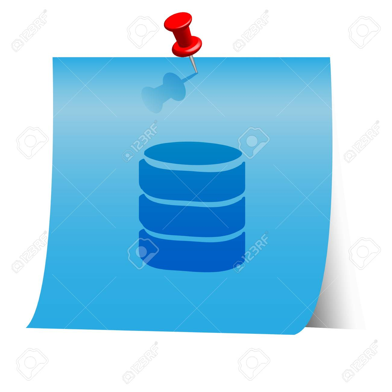 Energy resource icon on blue paper note. Stock Vector - 18139941