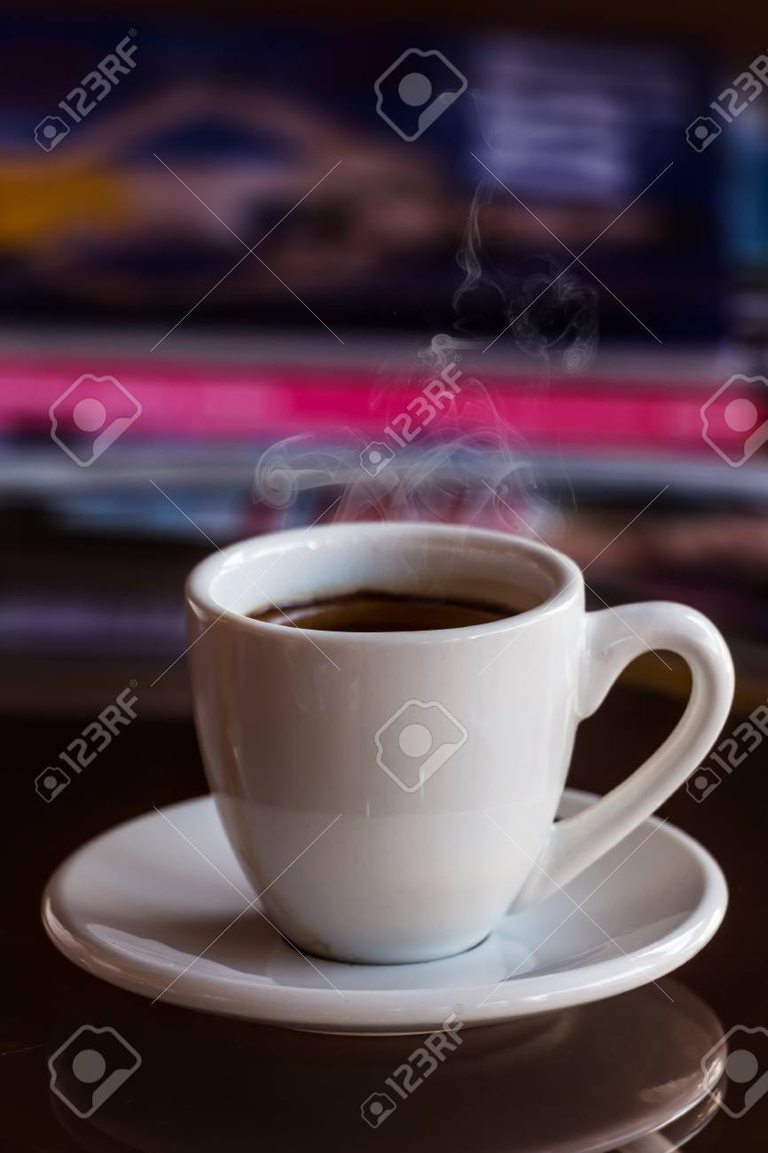 cup of coffee on table in cafe Stock Photo - 22146383