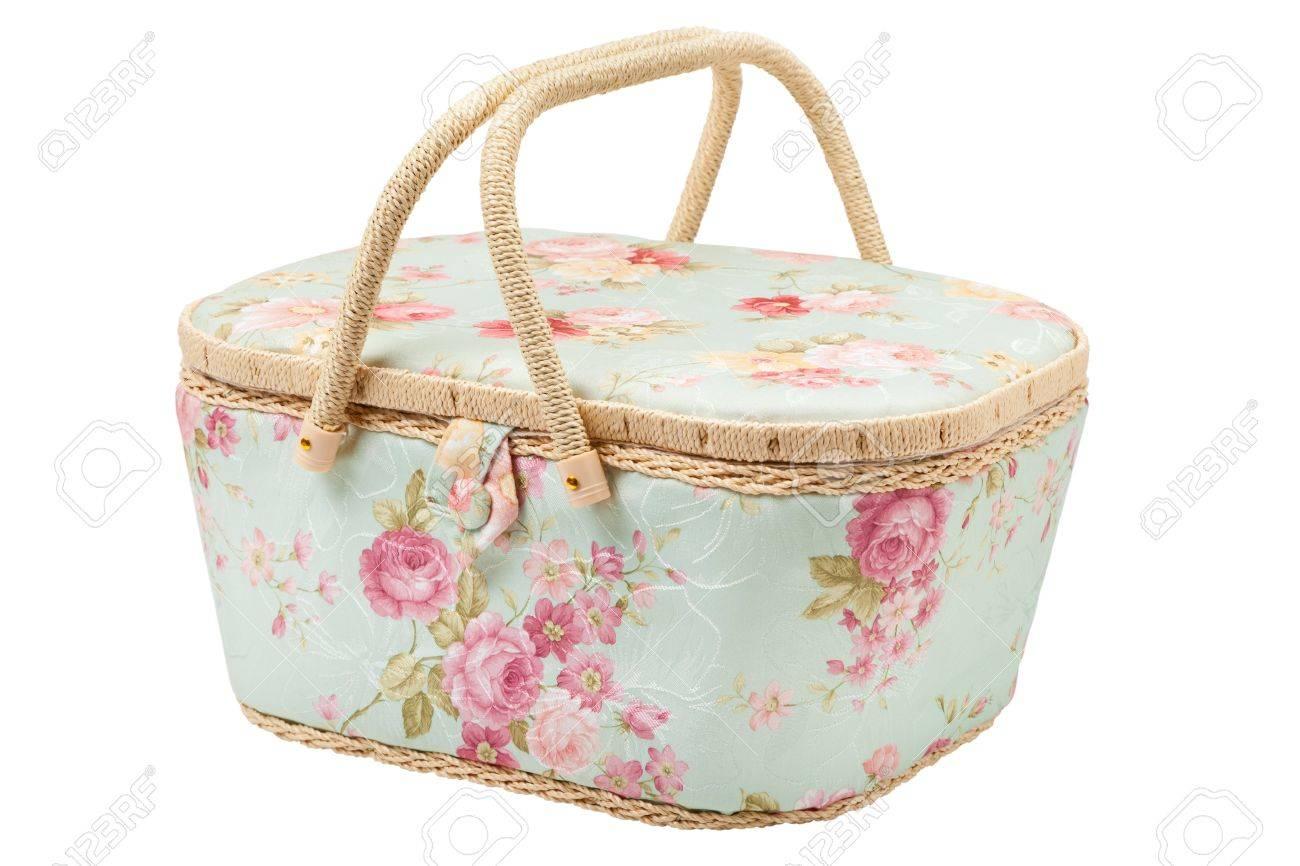 Basket for needlework 76