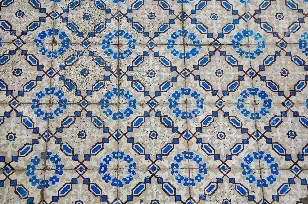 Thai Art Pattern Of Floor In Buddhist Temple Stock Photo, Picture ...