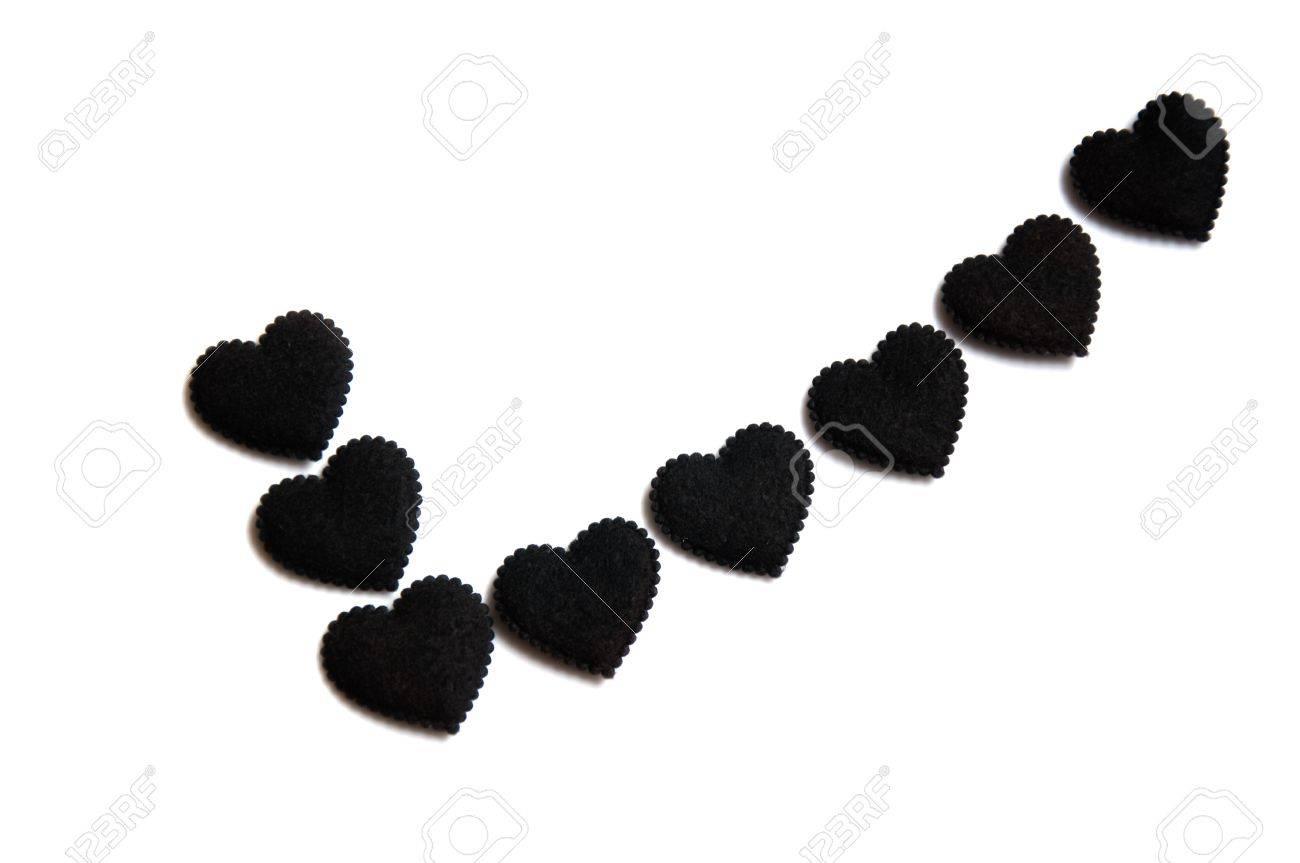 check mark symbol made from small black hearts Stock Photo - 16608982