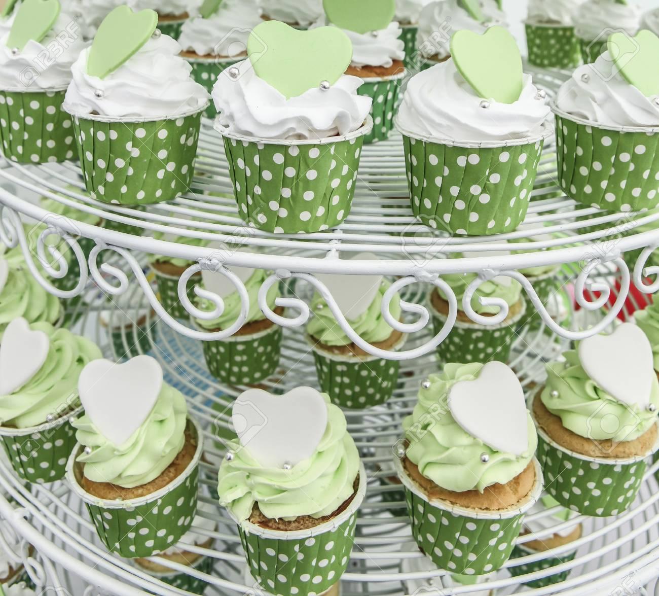Green cupcake Stock Photo - 16482669