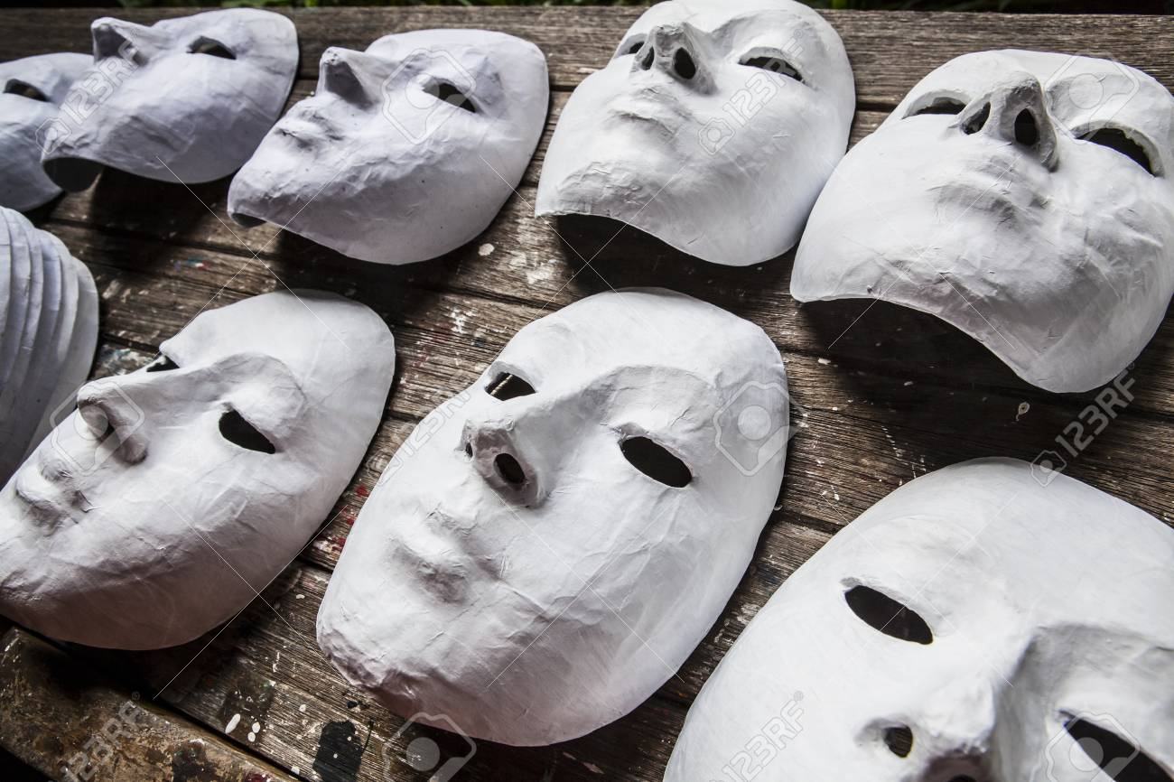 White Masks Stock Photo - 18084249
