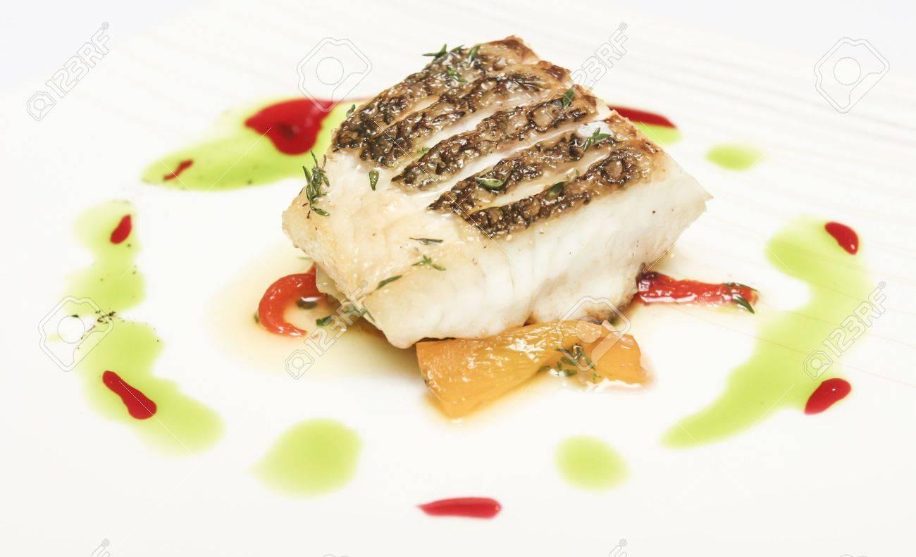 Roast fish steak Stock Photo - 19713861