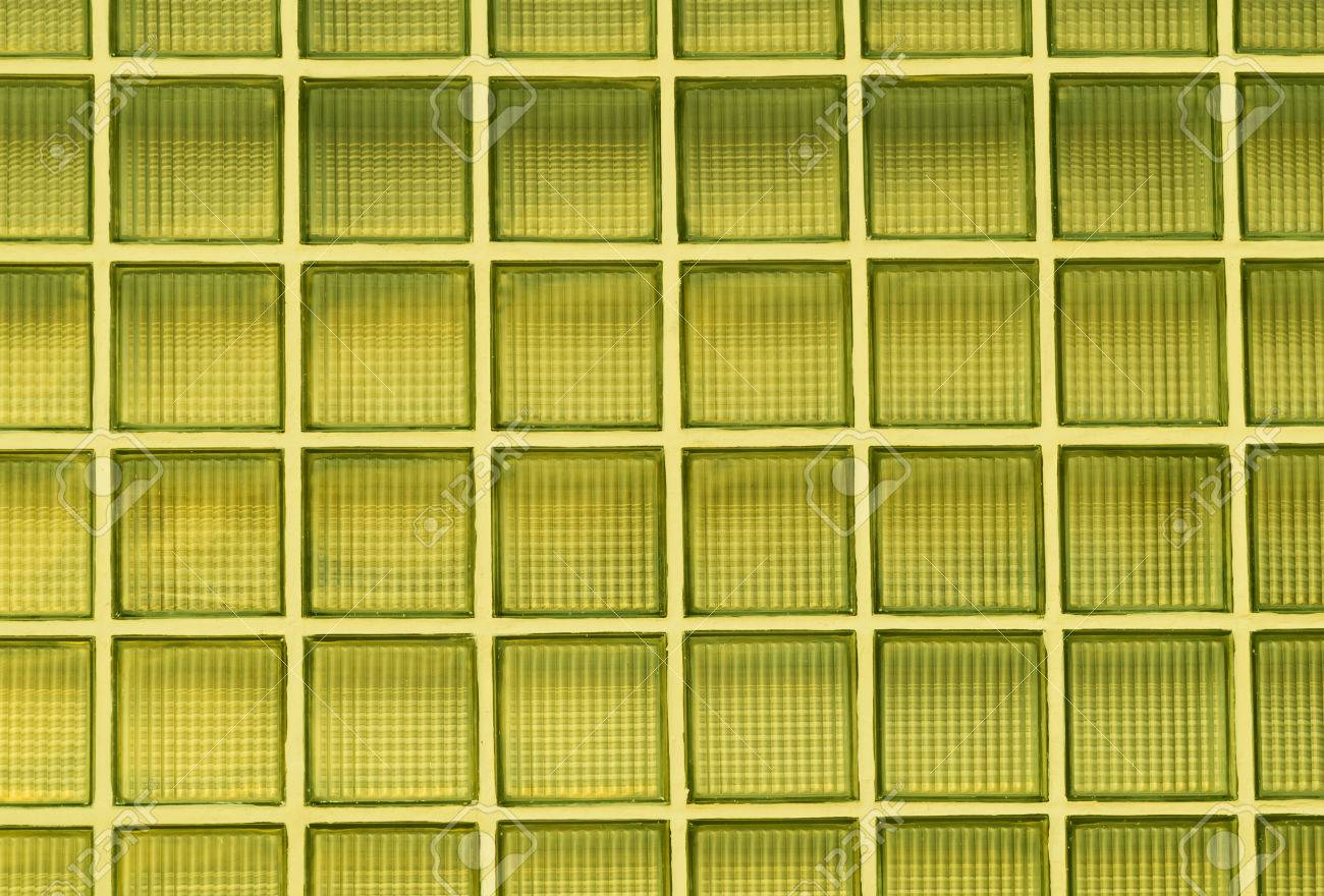 Yellow Glass Block Wall Background Stock Photo, Picture And Royalty ...