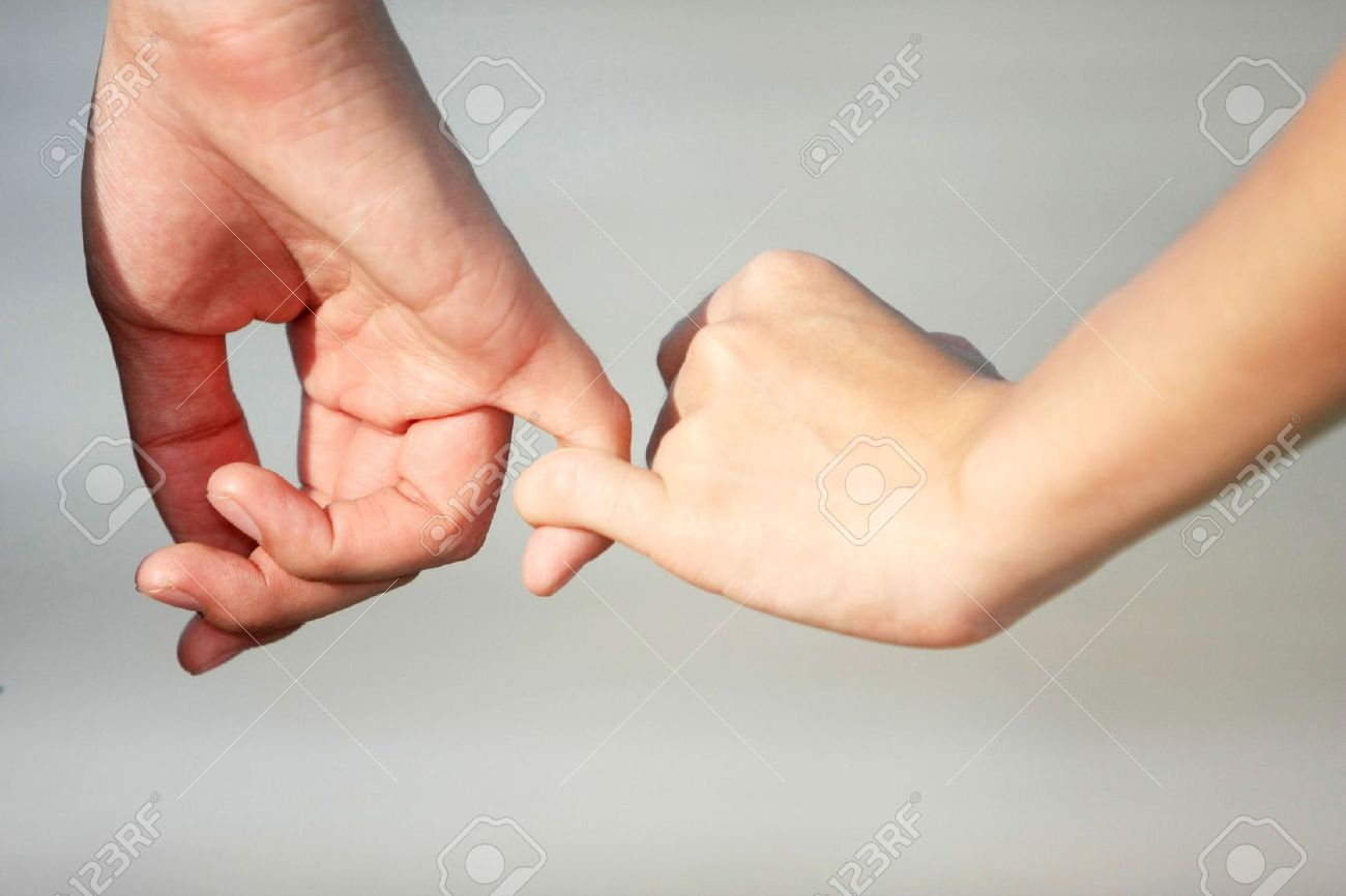 A couple make a hand on hand with love Stock Photo - 6715943