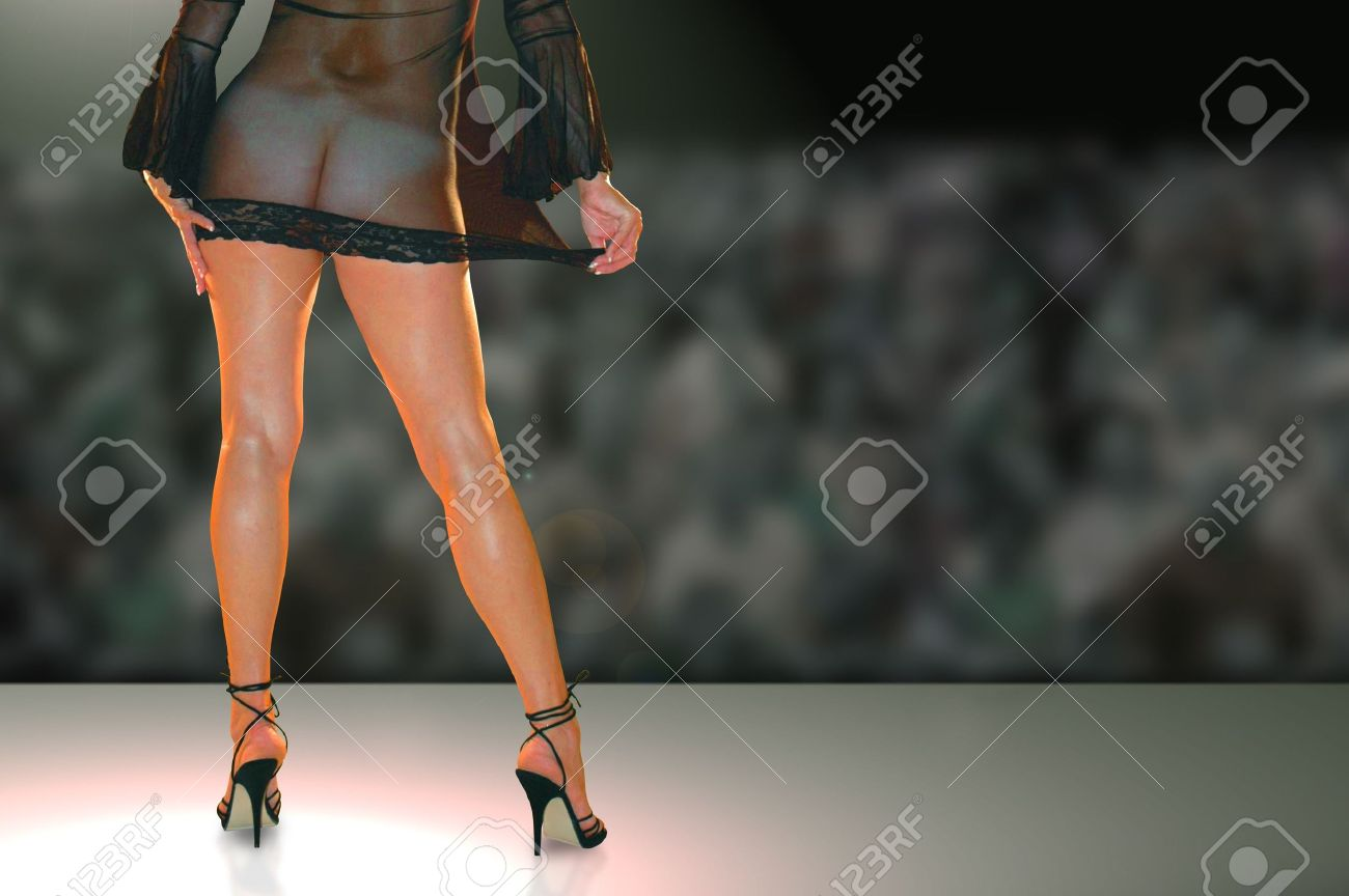 female stripper dancing onstage in night club. Stock Photo - 3781134