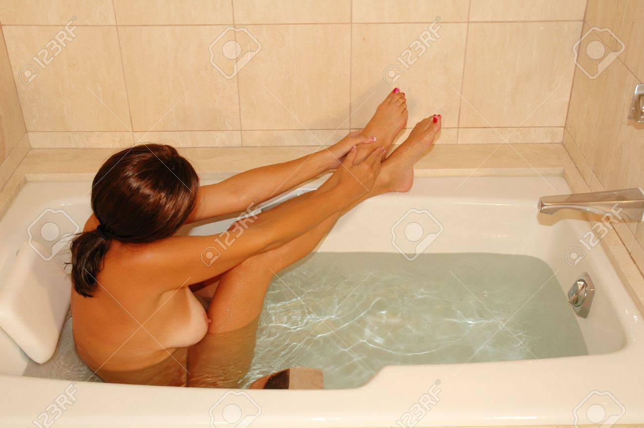 Brunette Woman Bathing In Resort Bath Tub Stock Photo Picture And Royalty Free Image Image 4066617