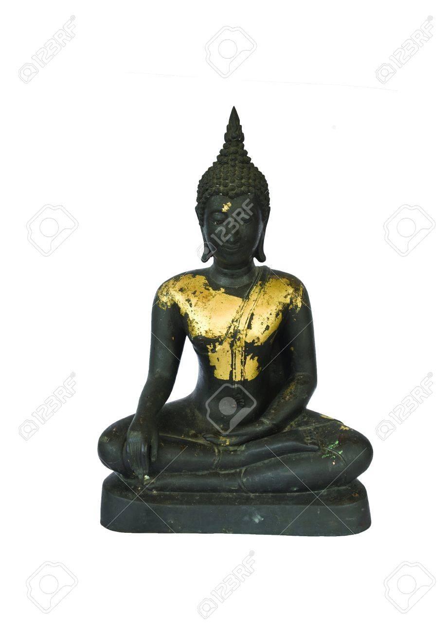 ancient buddha statue on white background Stock Photo - 19121776