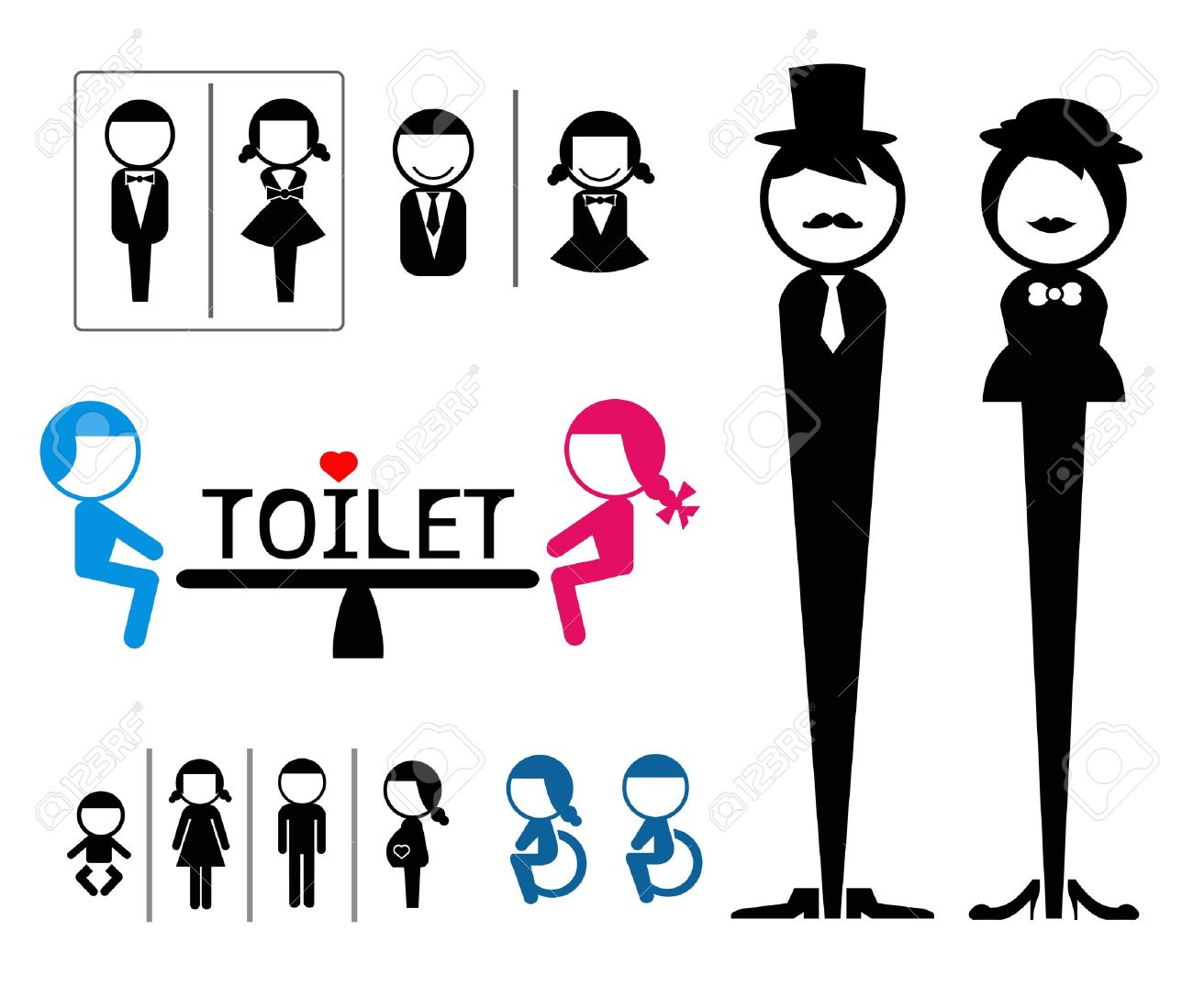 Toilet sign Stock Vector   21748093. Toilet Sign Royalty Free Cliparts  Vectors  And Stock Illustration