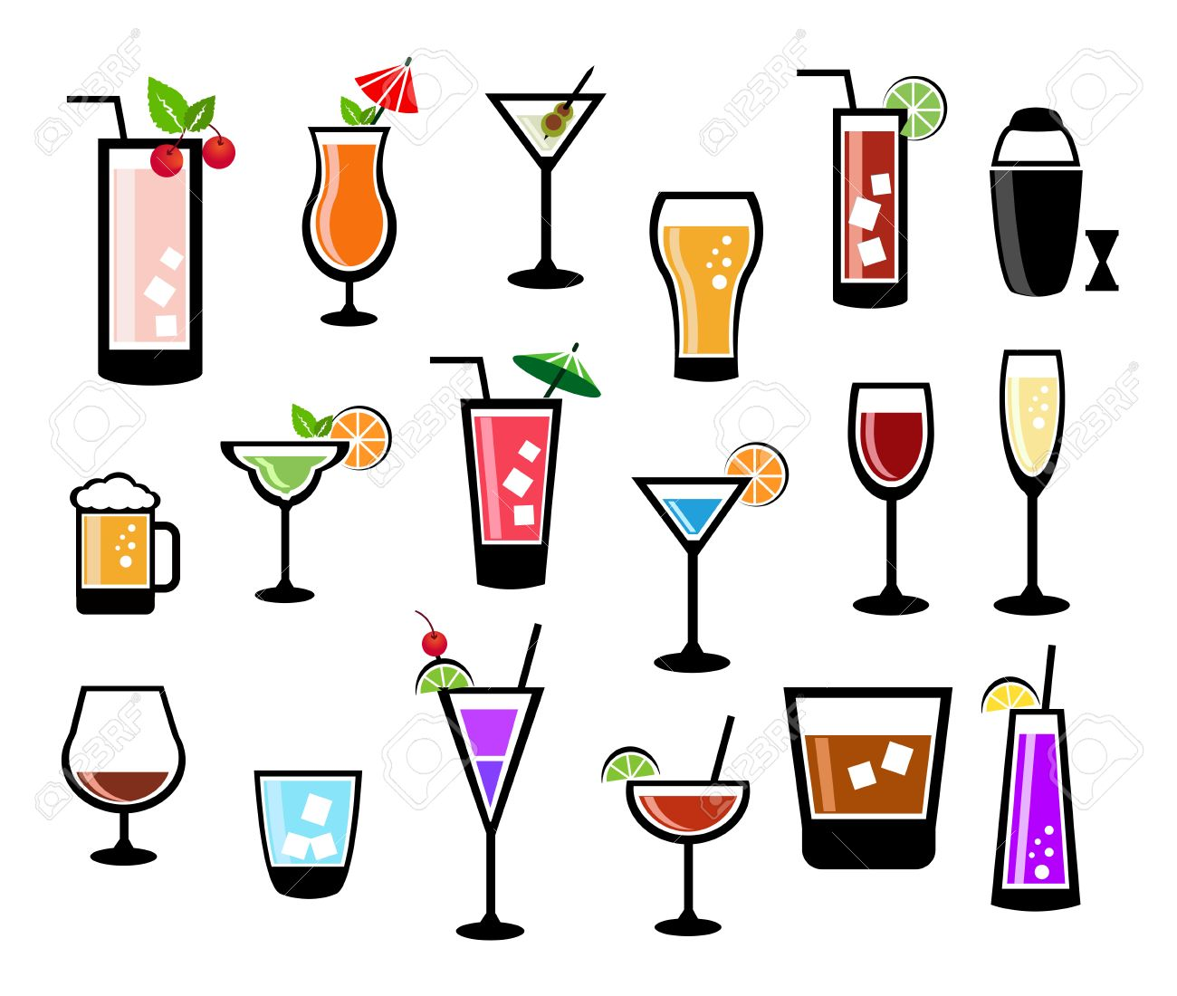 Cocktail vector set - 24019638