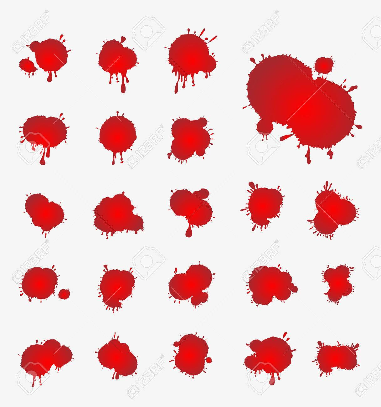 vector set of blood stains - 33472499