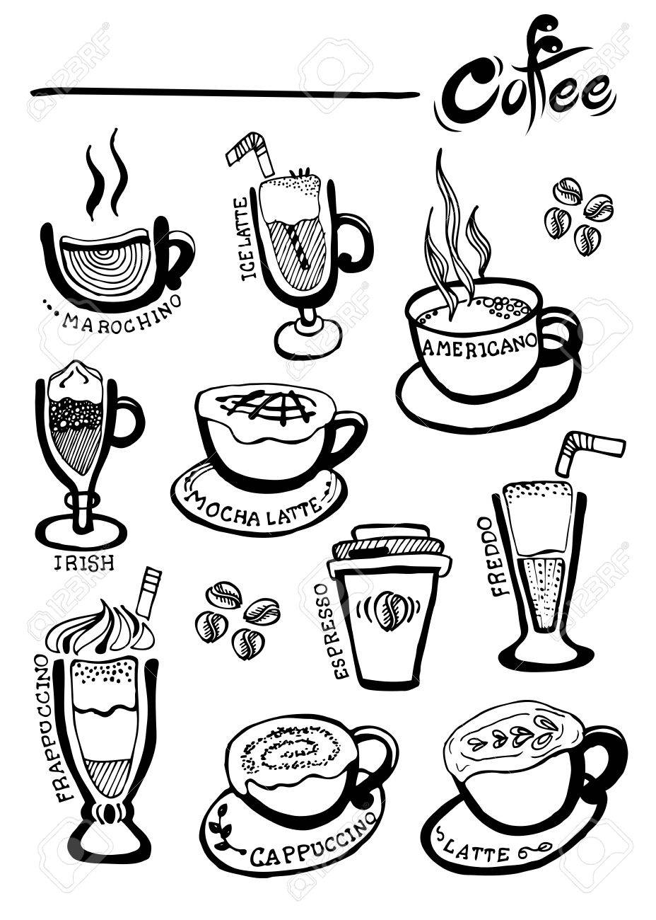 Coffee Hand Drawn vector, Doodles - 35707382