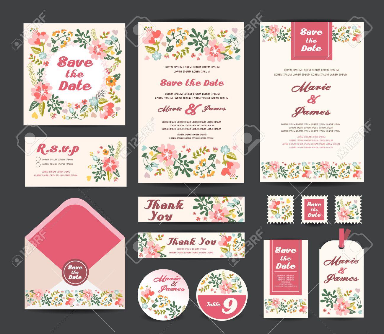 Wedding invitation vector Stock Vector - 47394598