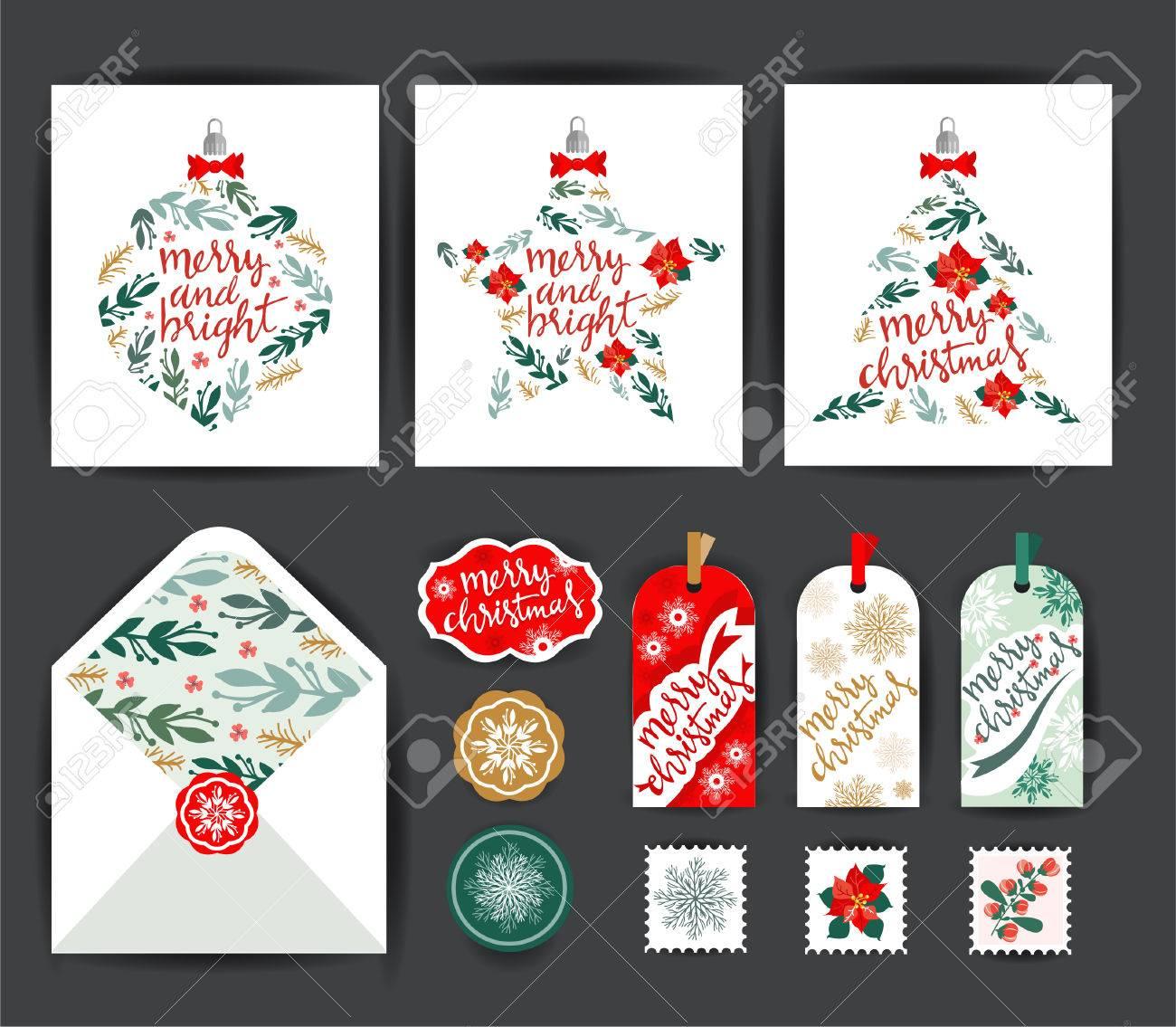 Set of Christmas Cards - 47624529