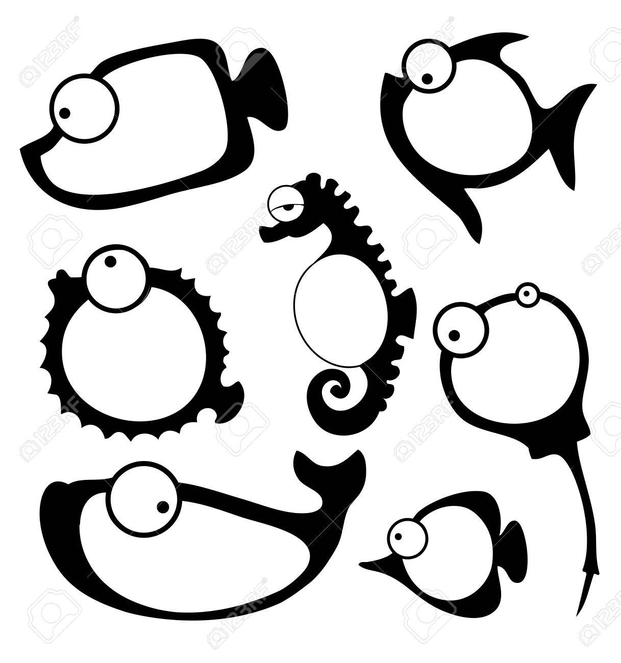 Vector illustration of fish frame - 47653384